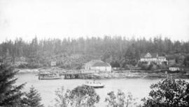 [View of the old and new Malaspina Hotels and the dance pavilion]