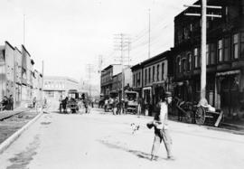 [View of Dupont Street, later Pender Street, Chinatown area]