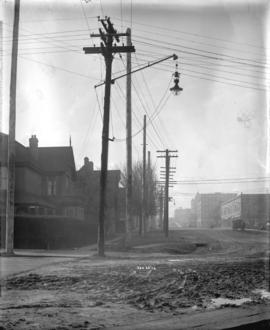 [View of Burrard Street, looking south from Hastings Street]