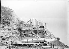[Partially constructed power house for Buntzen Lake Power Plant number one]