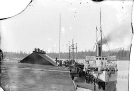 C.P.N. Co.'s steam ship Islander at wharf, Vancouver