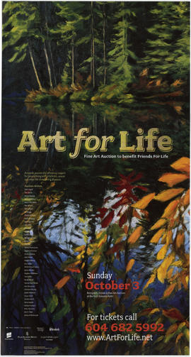 Art for life : fine art auction to benefit Friends For Life : Sunday, October 3 : reception, dinn...