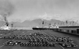A Portion of the Motor Fleet, Vancouver City Police Force, Centennial Pier [view of various types...