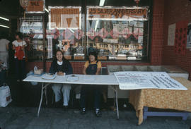 Petition booth on 200 block East Pender Street