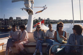Group on boat cruise in the Burrard Inlet