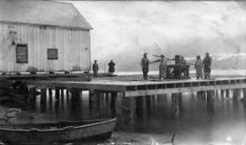 North Pacific Cannery [showing a] Japanese house,  jacks and  rollers