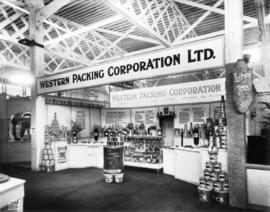 Western Packing Corporation display of canned foods