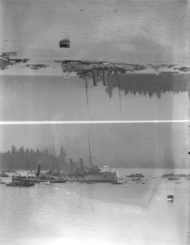 "[H.M.S. ""Rainbow"" in Vancouver harbour to watch over the ""Komagata Maru""]"