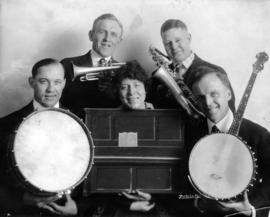 [Five members of the Empress Jazz Orchestra of Vancouver's Empress Theatre. Dated Nov. 1, 1919 &a...