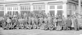 [Staff and students in front of Hemphill's Motor School - 1531 W. 15 Ave.]