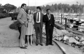 Michael Francis and Australian delegates outside of Westin Bayshore Hotel