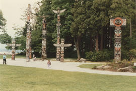 Totem poles at Brockton Point