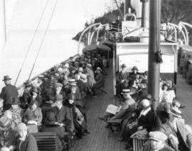 "[Upper passenger deck of either ""Lady Cecilia"" or ""Lady Cynthia""]"