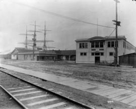 [Union Steamship Co. of B.C. Ltd. office and dock buildings]