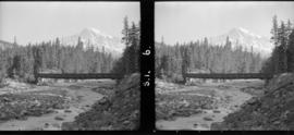 Mount Rainer across from [Rim] at Longmire [bridge in photo]