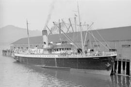 "[Union Steamship ""Camosun"" at dock]"
