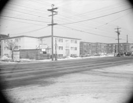 [Apartment buildings under construction at Broadway and Larch]