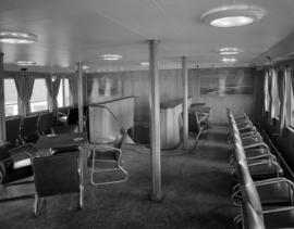 [Interior view of a seating area on board the U.S.S. Chilcotin]