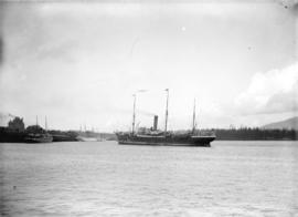"[R.M.S. ""Aorangi"" and other ships in Burrard Inlet]"