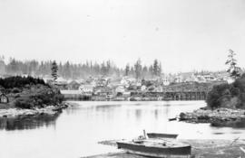 [View of] Nanaimo V.I. [from across an inlet]