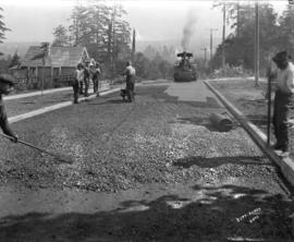 [Street paving at 18th Avenue and Collingwood]