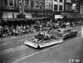 West Vancouver Lions Club float in 1953 P.N.E. Opening Day Parade