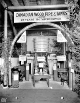Canadian Wood Pipe and Tanks display