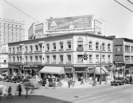 Building on corner of Georgia Street and Granville Street