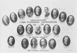 Vancouver Town Planning Commission 1926 [,] Ex-Officio Members [and] Town Planning Consultants