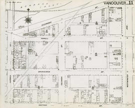Plan of Vancouver, 1889 [fire map] : [Westminster Avenue to Alexander Street to Carrall Street to...