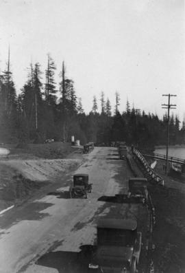 [A road in Stanley Park]