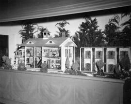 Display of scale model houses