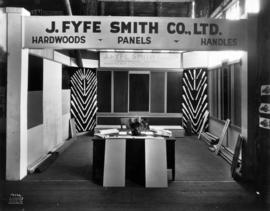 J. Fyfe Smith Co. display of hardwoods, panels, and handles