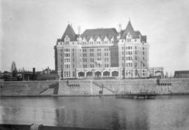[View of Empress Hotel nearing completion of construction]