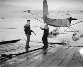 Dunlop and Phinney, fliers at Jericho with Fairchild aircraft