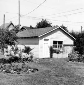 [Garage built from lumber from the McCleery farmhouse at 807 East 21st Avenue ]