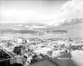 Vancouver, B.C. [View of downtown (Ailsa Lodge), Coal Harbour and Stanley Park]