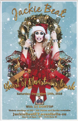 Jackie Beat : Ghost of Christmas Trash : Saturday, December 10th, 2016 with DJ Domtop