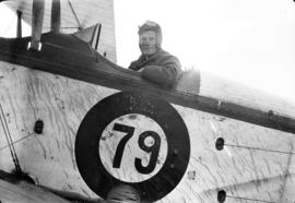 [James Crookall in cockpit of plane]