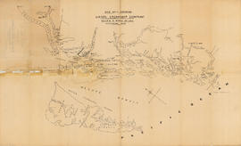 Map no. 2 shewing Union Steamship Company route and ports of call : northern run
