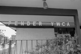 Pender YWCA exterior sign on Dunlevy Street