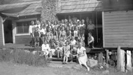[Group portrait of staff and campers at Jubilee Children's Camp]
