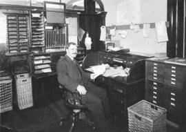 Mr. J.A. MacMillan Post Master North Vancouver [in] Office in old City Hall