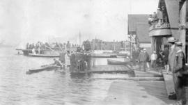 [Vancouver Rowing Club at the foot of Thurlow Street]
