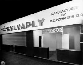 B.C. Plywoods display of Sylvaply and Monodor products