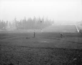 [Men playing golf at Hastings Park Golf Links]
