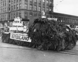 Kitsilano float in 1949 P.N.E. Opening Day Parade