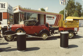 CKNW Orphan Fund promotional vehicle and station on grounds