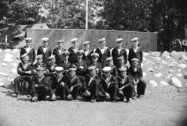 [Group portrait of a Sea Cadets class at Whytecliffe]
