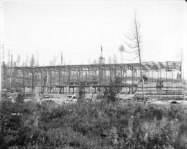 [Steel frame of partially constructed Horne Payne substation]
